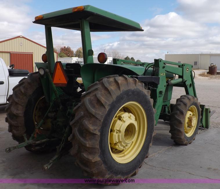 F6233D 1983 john deere 2550 mfwd tractor item f6233 sold! wedne