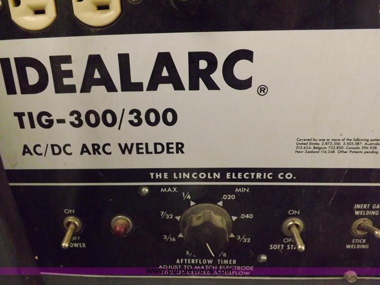 Lincoln Ideal TIG-300/300 arc welder | Item J9054 | SOLD! We