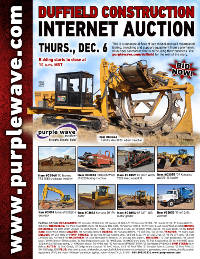 View December 6 Duffield Construction Auction flyer