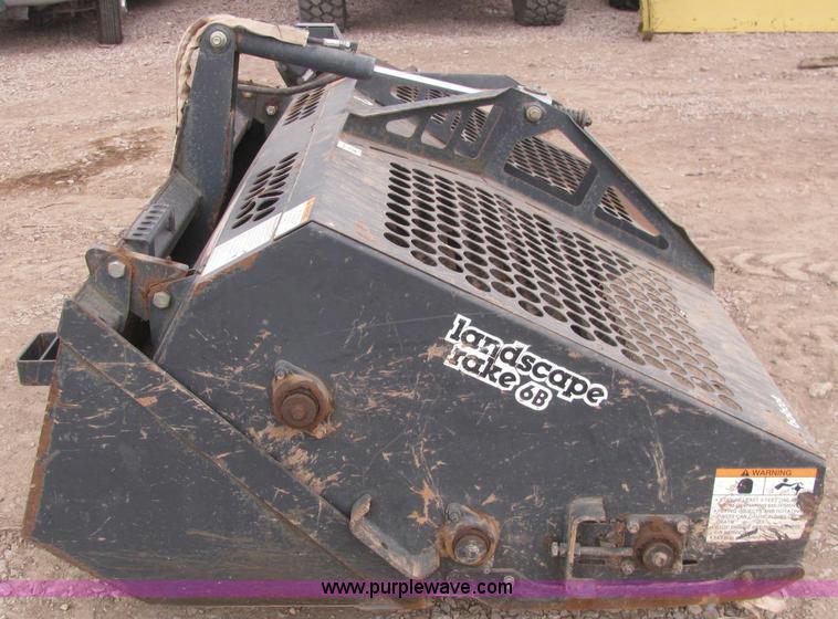 Bobcat LR6B landscape rake attachment | Item C3069 | SOLD! D