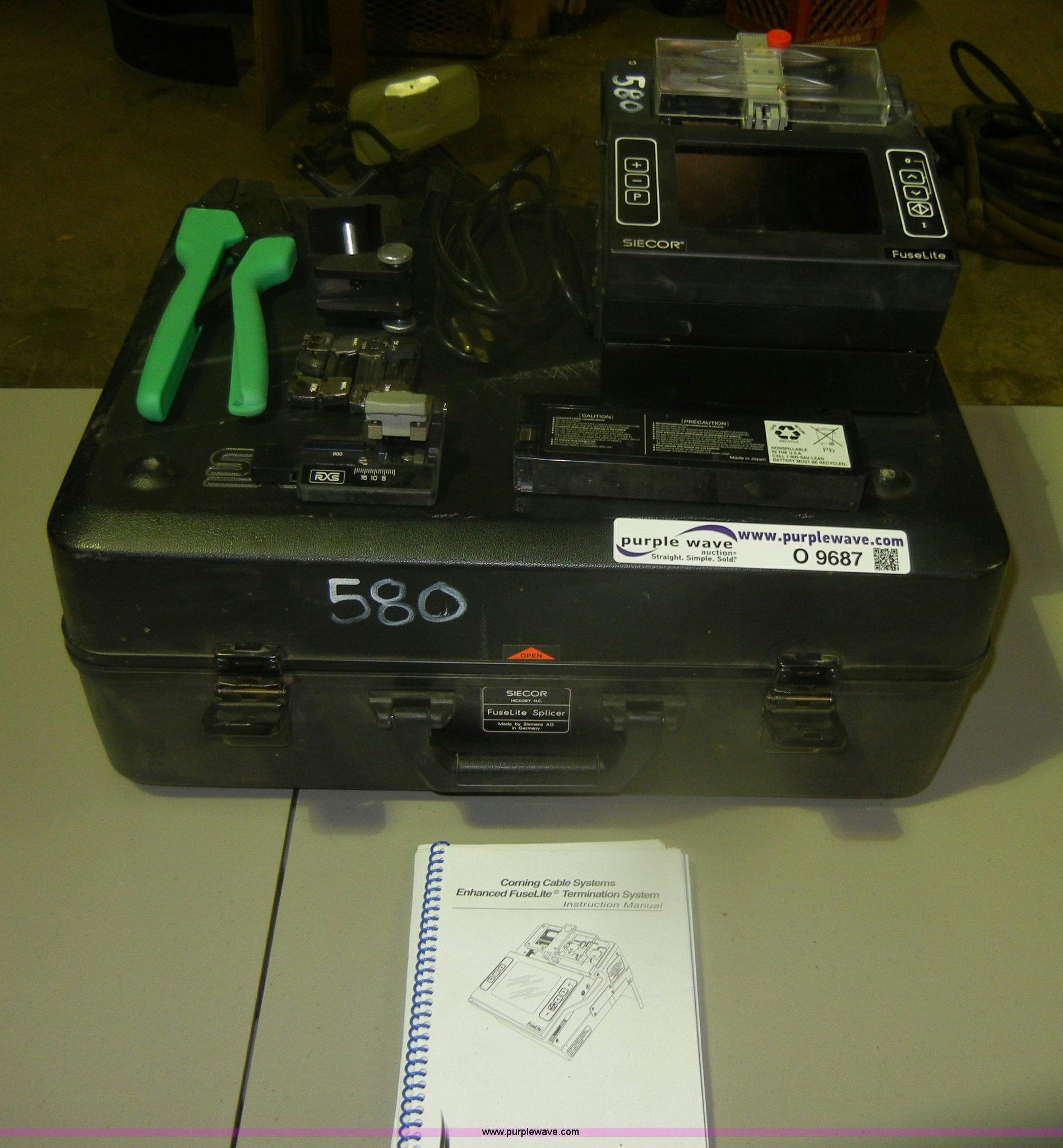 Siecor Fuse Lite splicer | Item O9687 | 12-6-2012