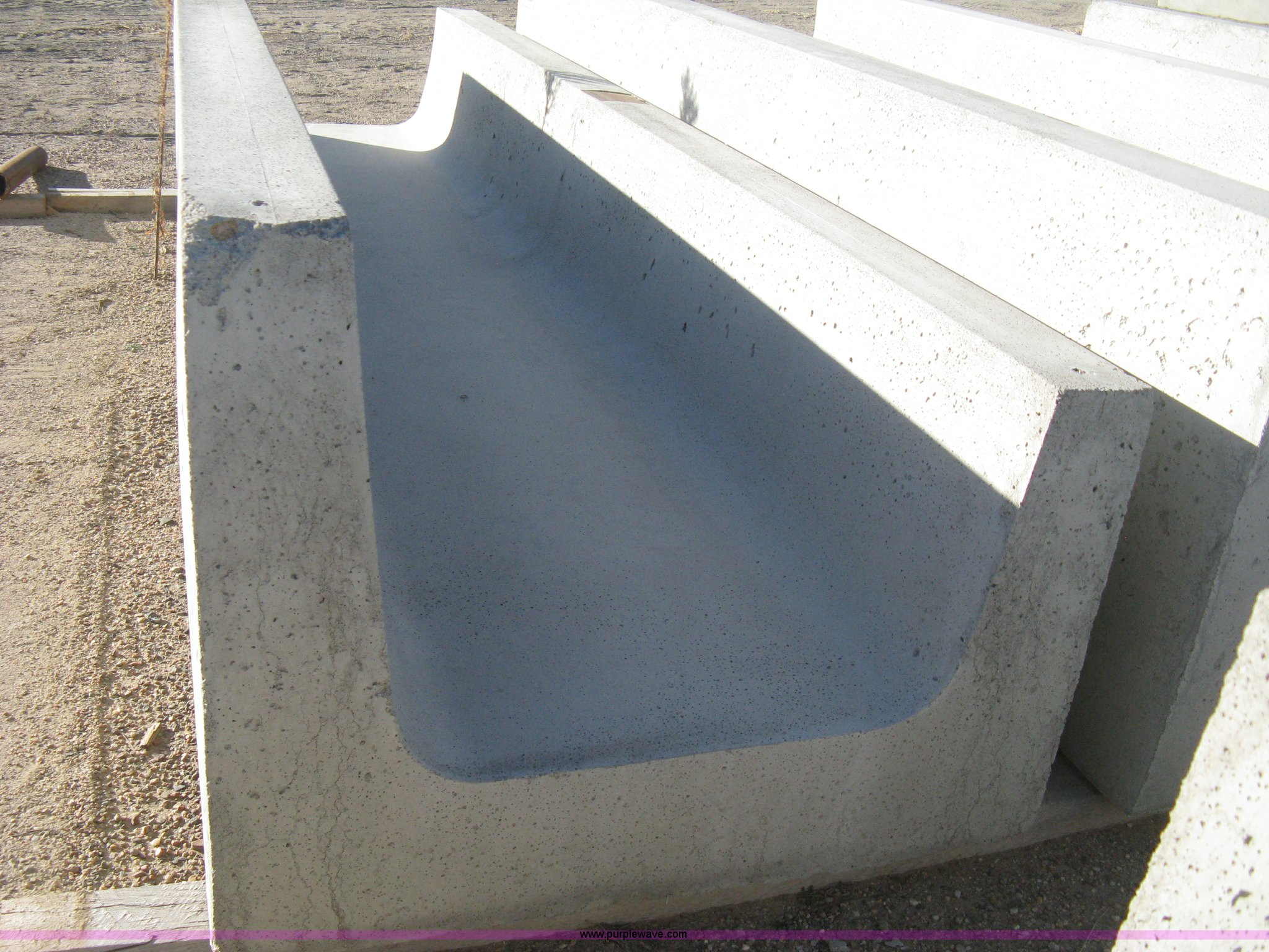 12 Concrete Feed Bunks Item B8475 Sold Thursday