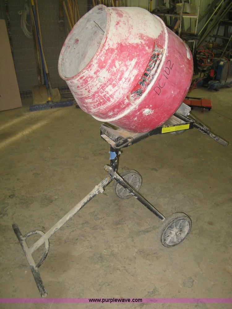 Husky Electric Concrete Mixer No Reserve Auction On