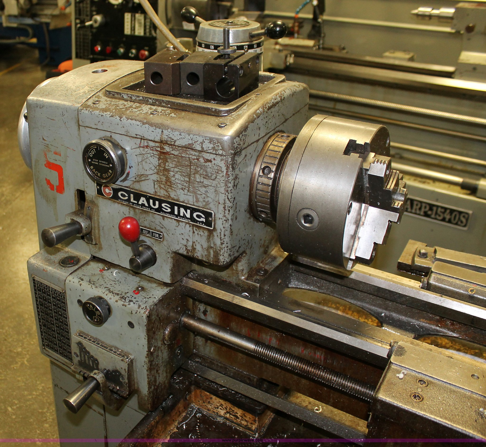 Clausing engine lathe | Item O9468 | SOLD! Tuesday January 8