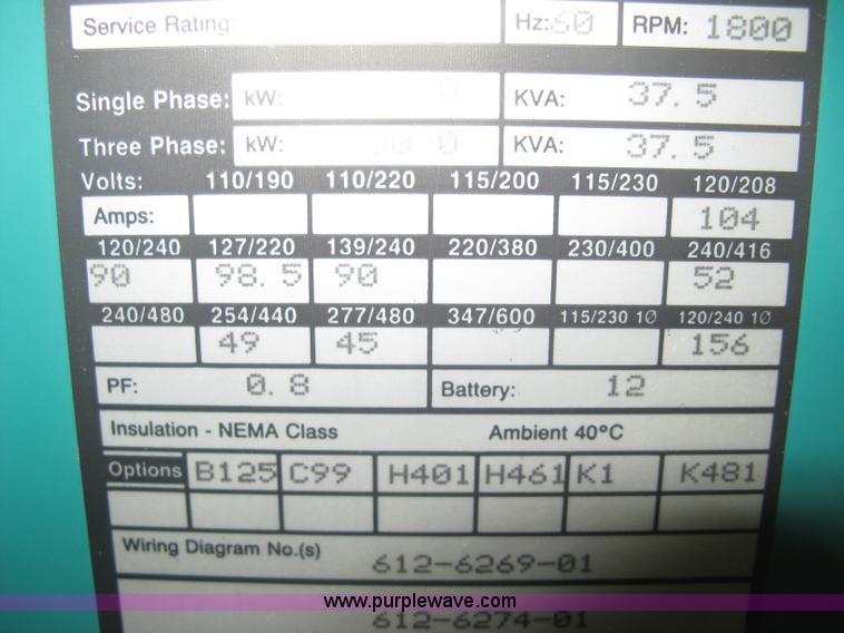 Onan 30 EK generator | Item B8339 | SOLD! January 9 Midwest ... Onan Ek Wiring Diagram on lesco wiring diagram, generator wiring diagram, bomag wiring diagram, sears wiring diagram, karcher wiring diagram, atlas wiring diagram, detroit wiring diagram, rv wiring diagram, ignition coil wiring diagram, liebherr wiring diagram, transfer switch wiring diagram, bush hog wiring diagram, taylor wiring diagram, briggs and stratton wiring diagram, dorman wiring diagram, sullair wiring diagram, clark wiring diagram, gilson wiring diagram, schematic wiring diagram, voltage regulator wiring diagram,