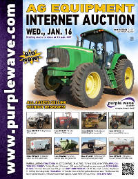 View January 16 Ag Equipment Auction flyer
