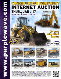 View January 17 Construction Equipment Auction flyer