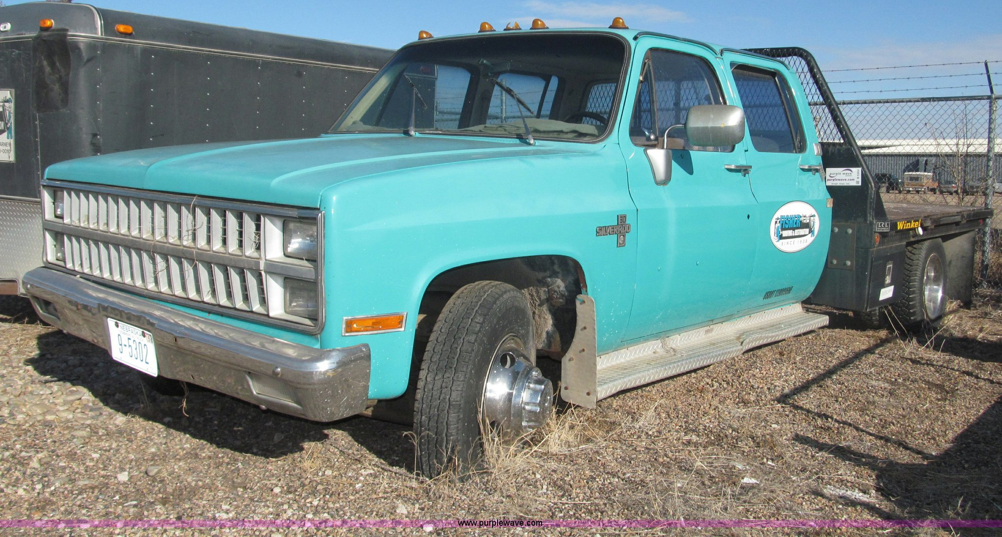 1982 Chevrolet Silverado C30 Flatbed Truck Item B5304 So