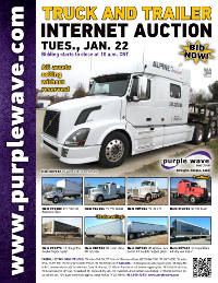 View January 22 Truck and Trailer Auction flyer