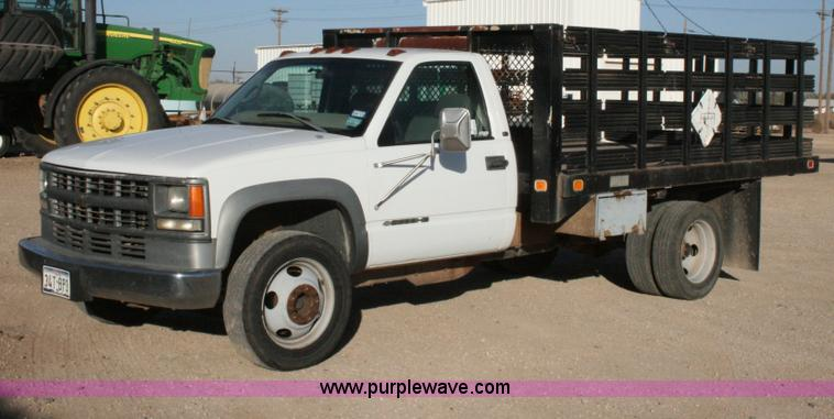 1998 Chevrolet 3500hd Flatbed Pickup Truck No Reserve