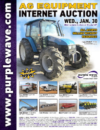 View January 30 Ag Equipment Auction flyer