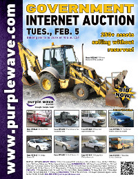 View February 5 Government Auction flyer