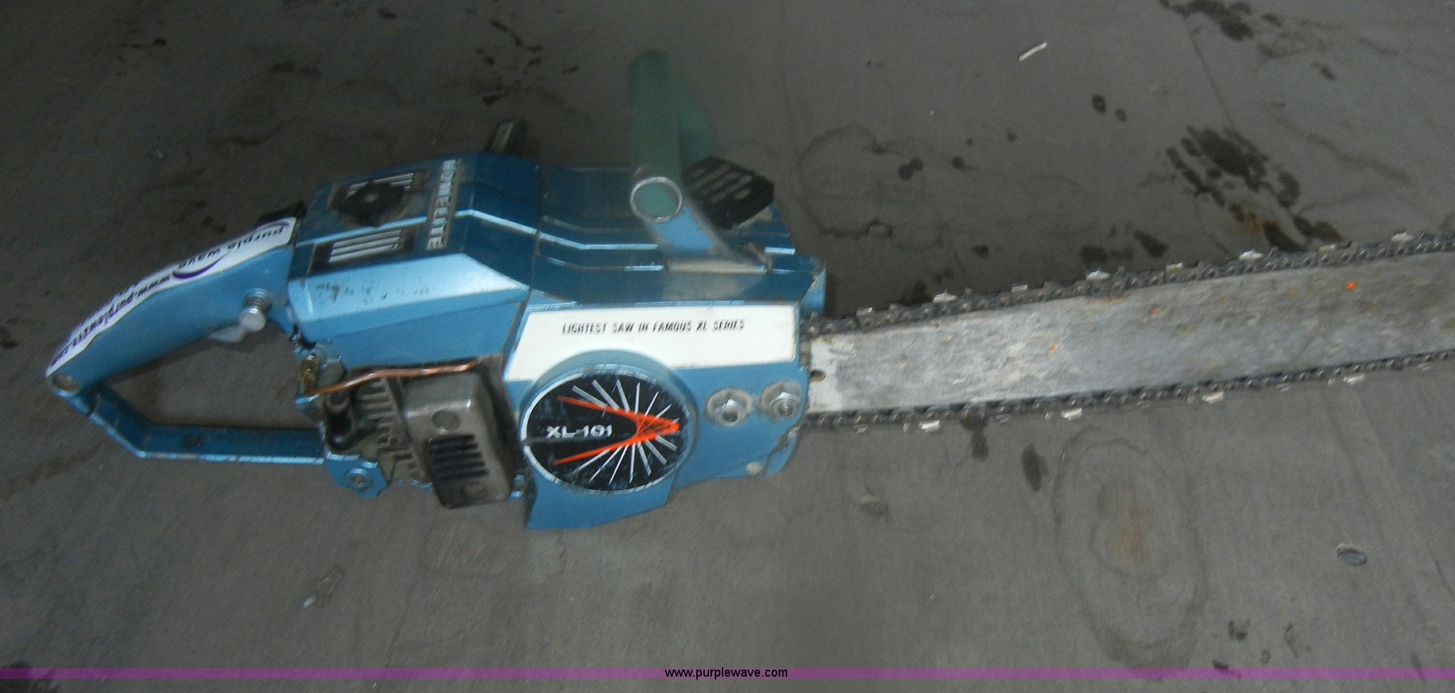 Homelite XL-101 chainsaw   Item AB9804   SOLD! Wednesday Feb