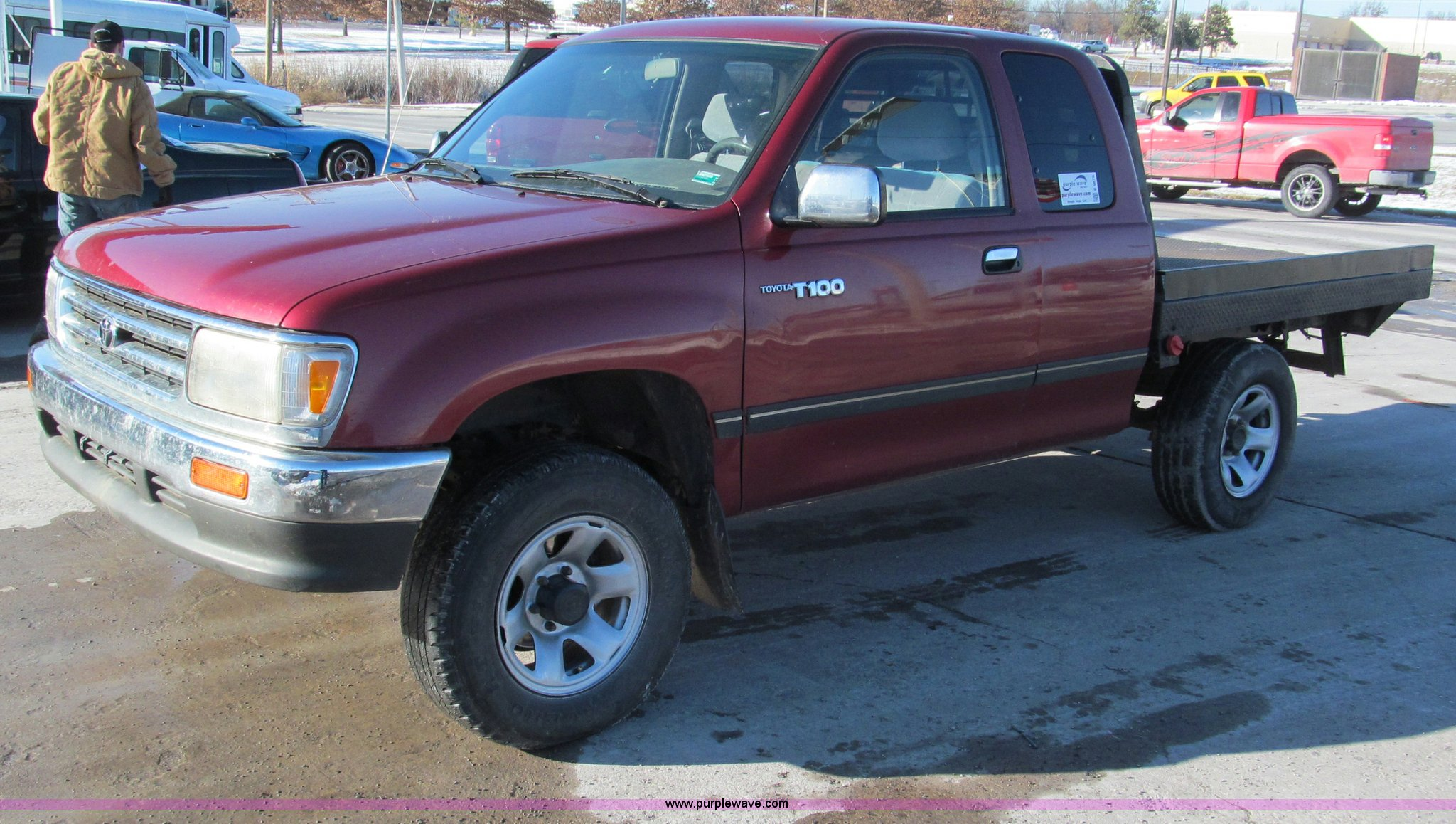 1997 Toyota T100 Dx Xtracab Flatbed Pickup Truck Item E587