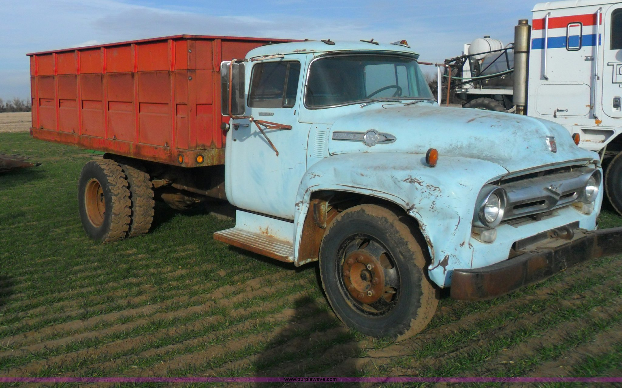 1956 Ford F700 Truck Item Ab9239 Sold February 13 Ag Eq. Ab9239 For Item 1956 Ford F700 Truck. Ford. Ford F700 Truck Headlight Parts Diagrams At Scoala.co