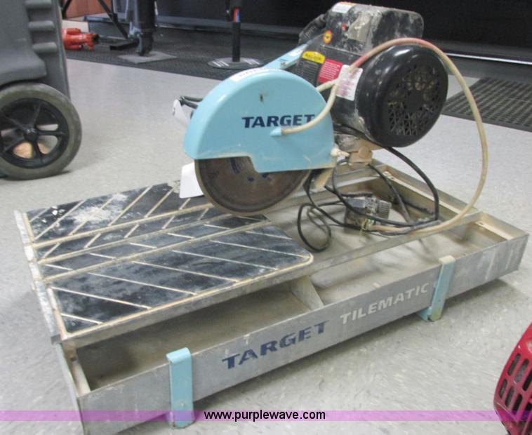 2006 Target Tilematic G2 Tile Saw Wet Saw No Reserve