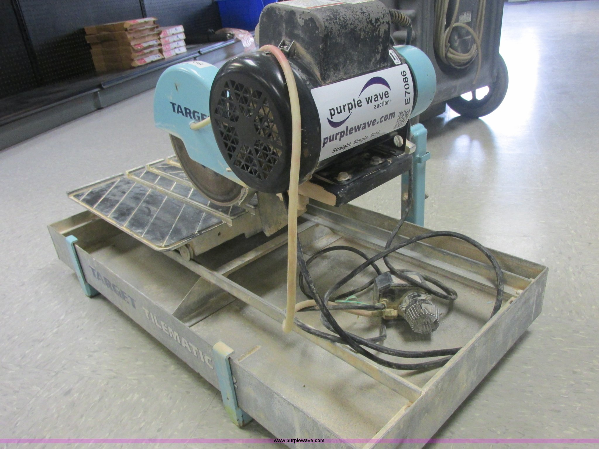 2006 Target Tilematic G2 Tile Saw Wet Saw Item E7086