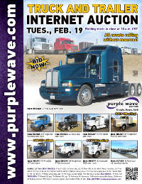 View February 19 Truck and Trailer Auction flyer