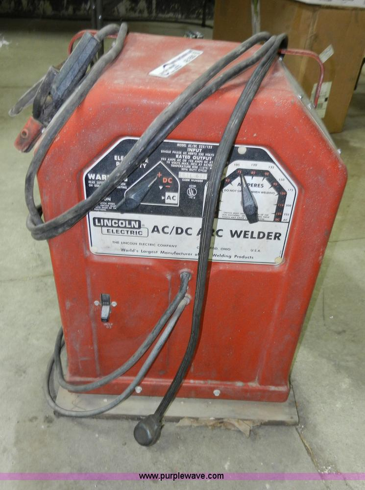 ac 225 lincoln welder. AB9582 Image For Item Lincoln AC/DC Arc Welder Ac 225