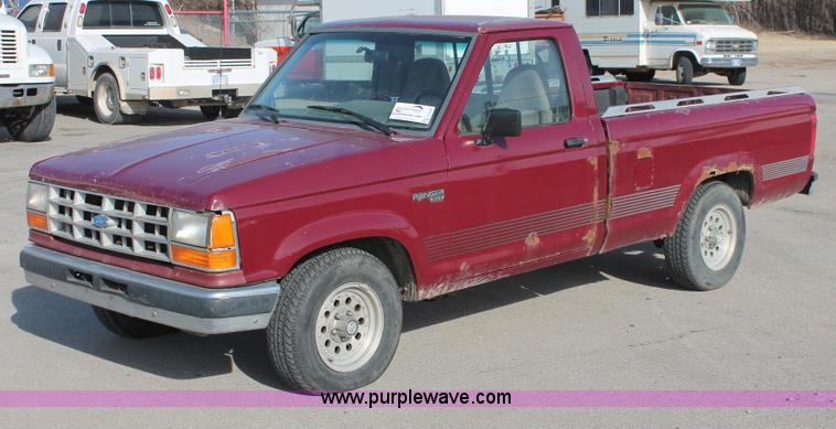 1991 ford ranger xlt pickup truck item e2546 sold. Black Bedroom Furniture Sets. Home Design Ideas
