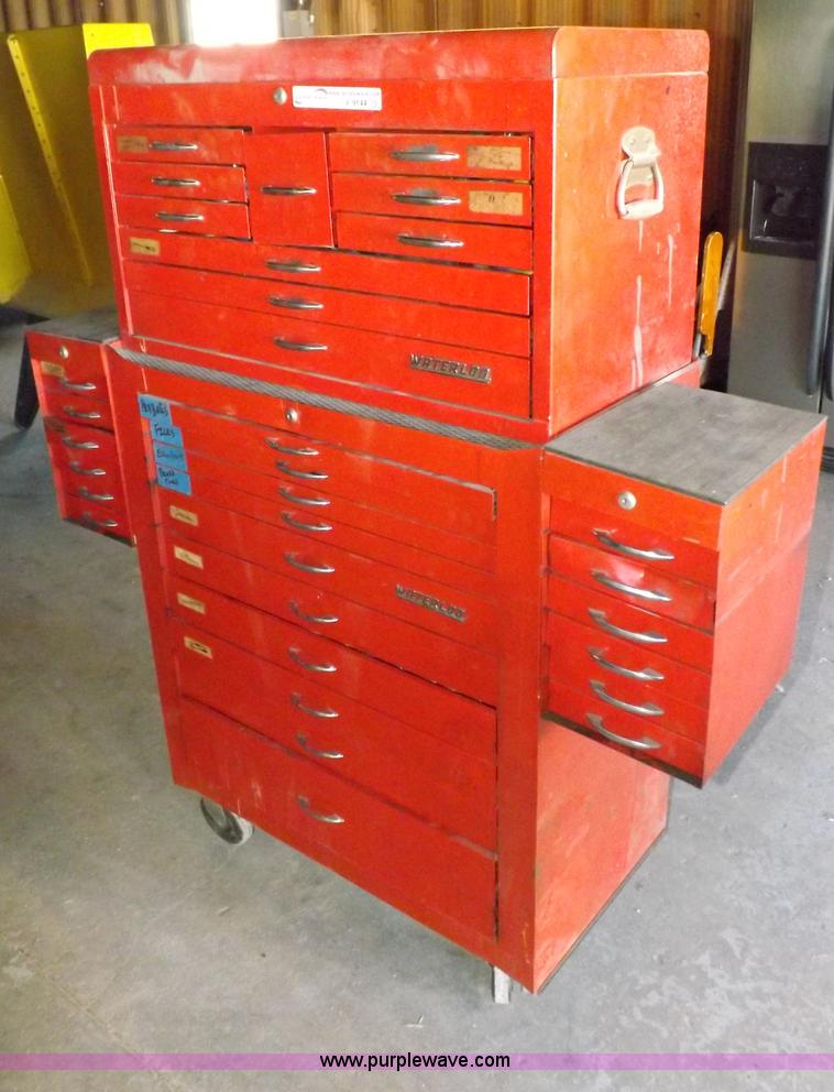 waterloo tool box with tools   item j9144   sold! february 2