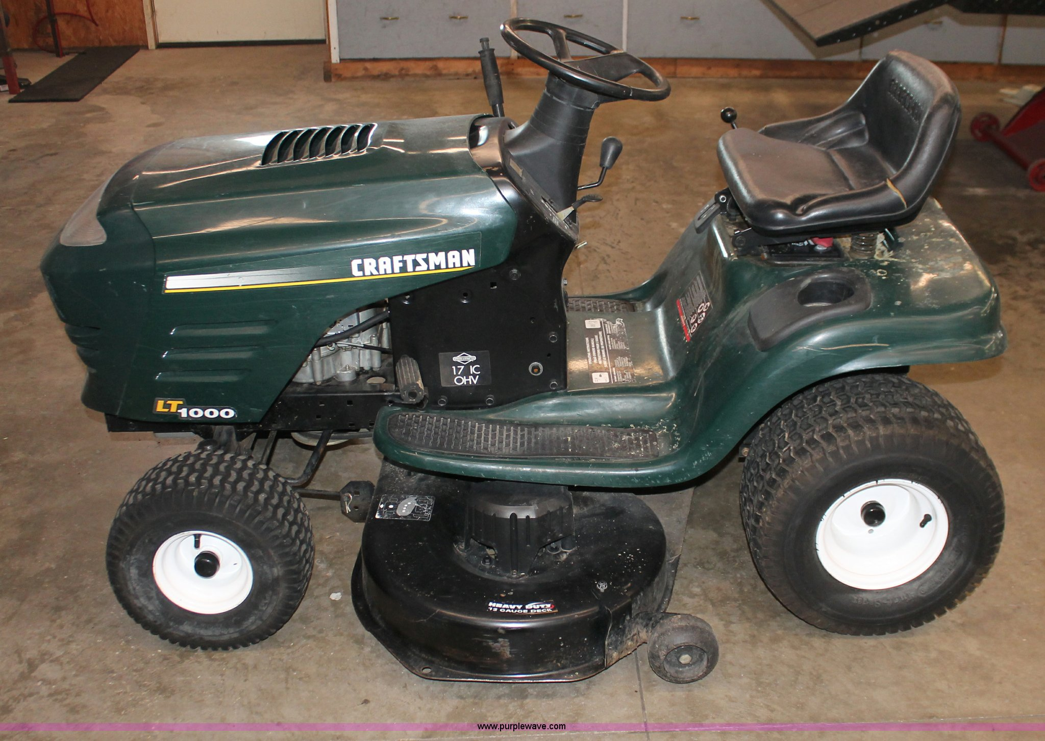 Craftsman LT1000 lawn mower | Item V9239 | SOLD! February 20