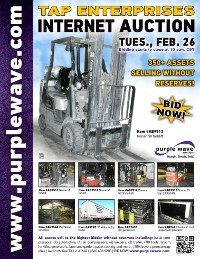 View February 26 TAP Enterprises Auction flyer