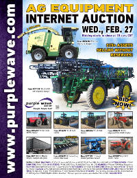 View February 27 Ag Equipment Auction flyer