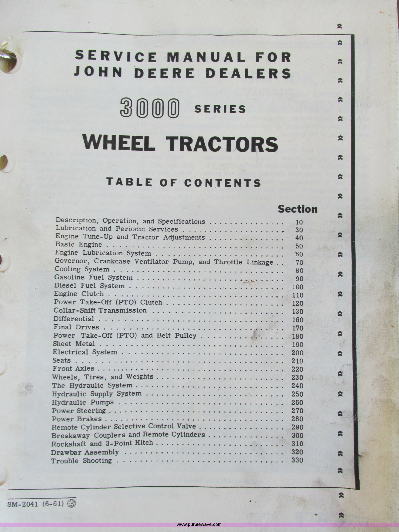 John Deere 3020 parts book and complete service manuals | It