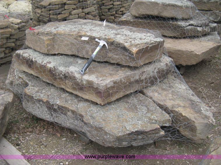 Flat Rock Stone : Flat rock moss boulders waterfall retaining wall item