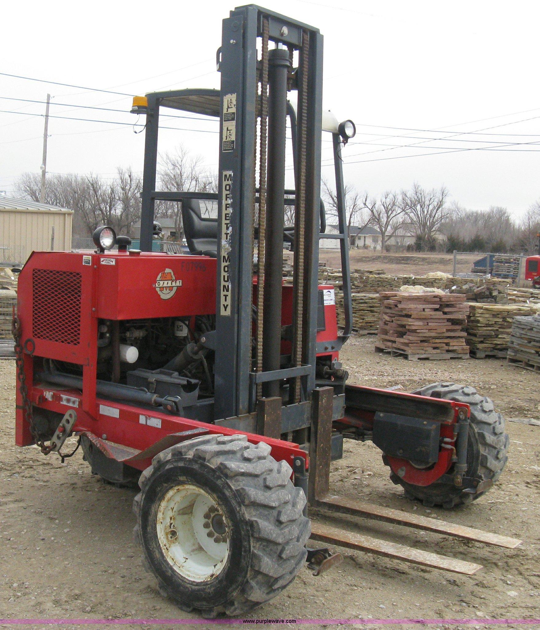 1997 moffett m5000 piggy back forklift item e3077 sold rh purplewave com Moffett Forklift Parts Diagram Moffett Forklift Hydraulic Diagrams
