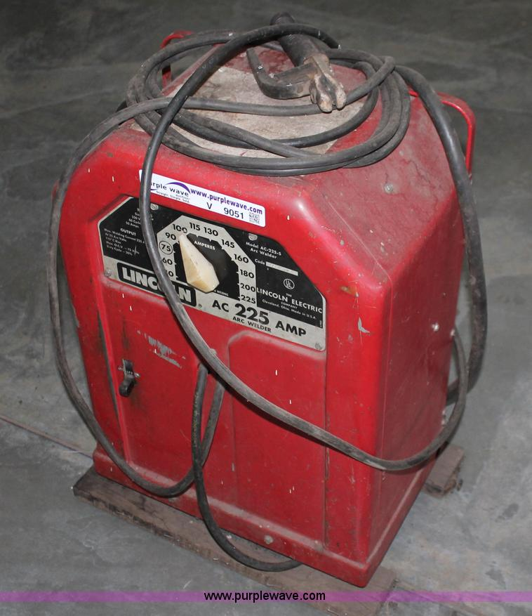 ac 225 lincoln welder. V9051 Image For Item Lincoln AC-225-S Arc Welder Ac 225 K