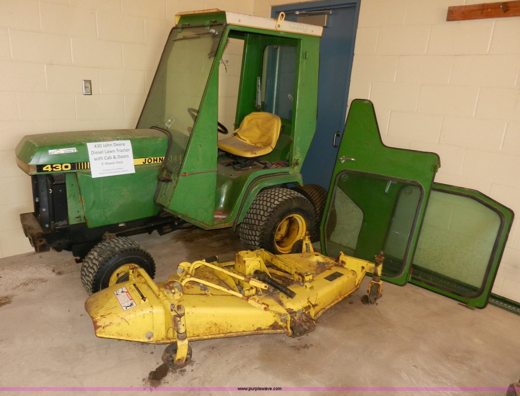 John Deere 430 Lawn Tractor Item Ab9559 Sold March 5