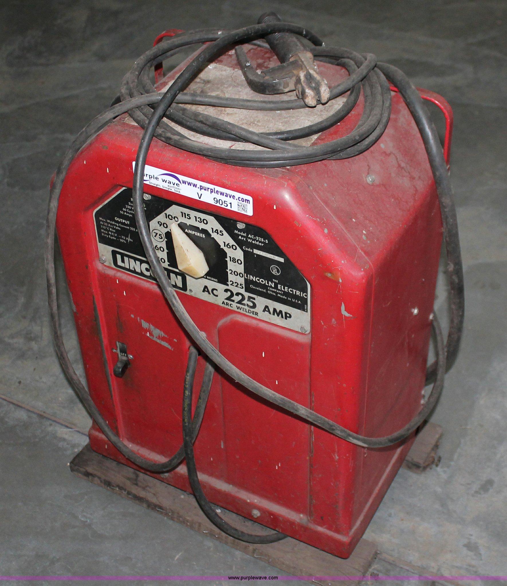 Lincoln AC-225-S arc welder   Item V9051   SOLD! March 5 Gov