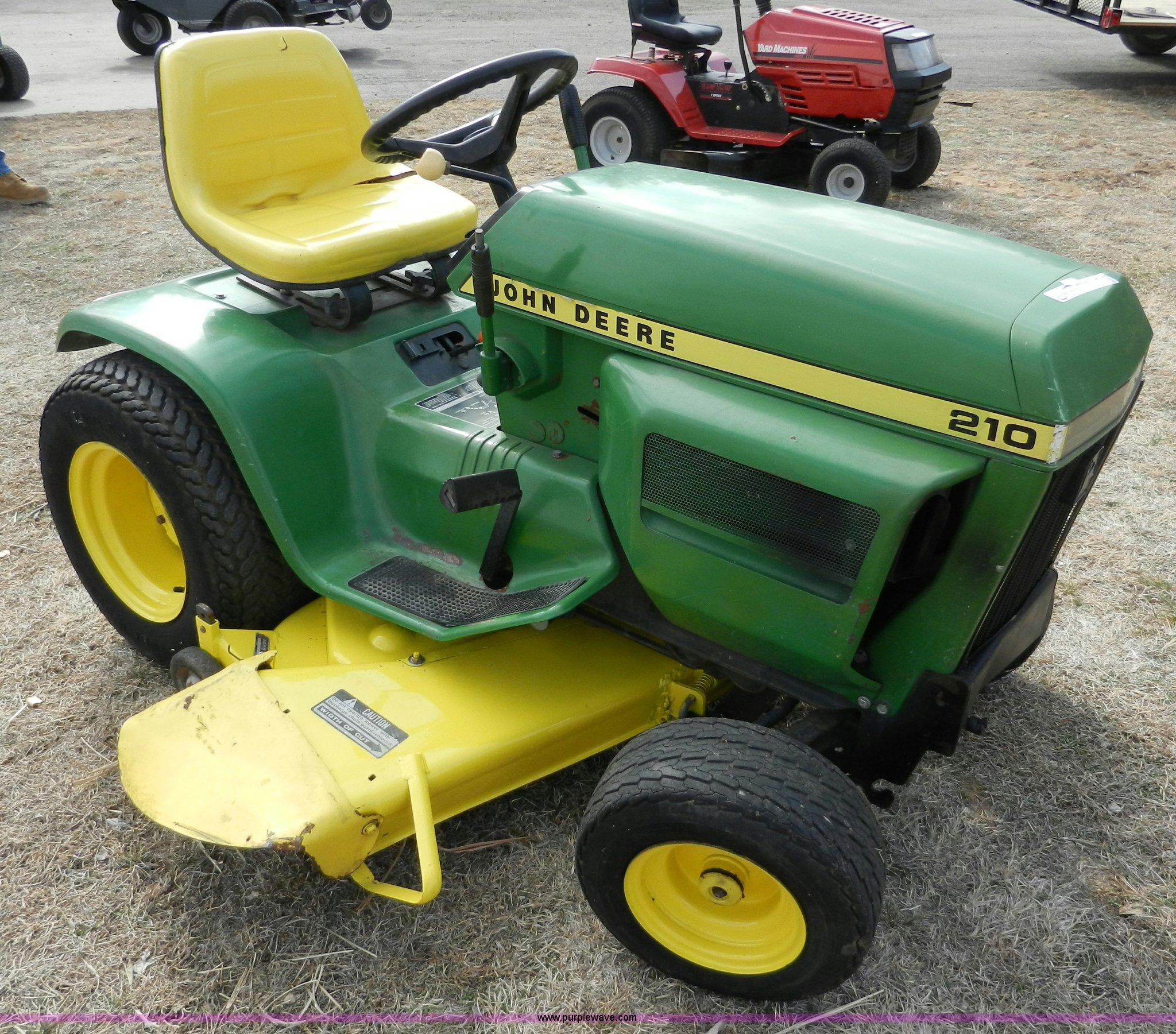 john deere 210 garden tractor item ab9769 sold march 6