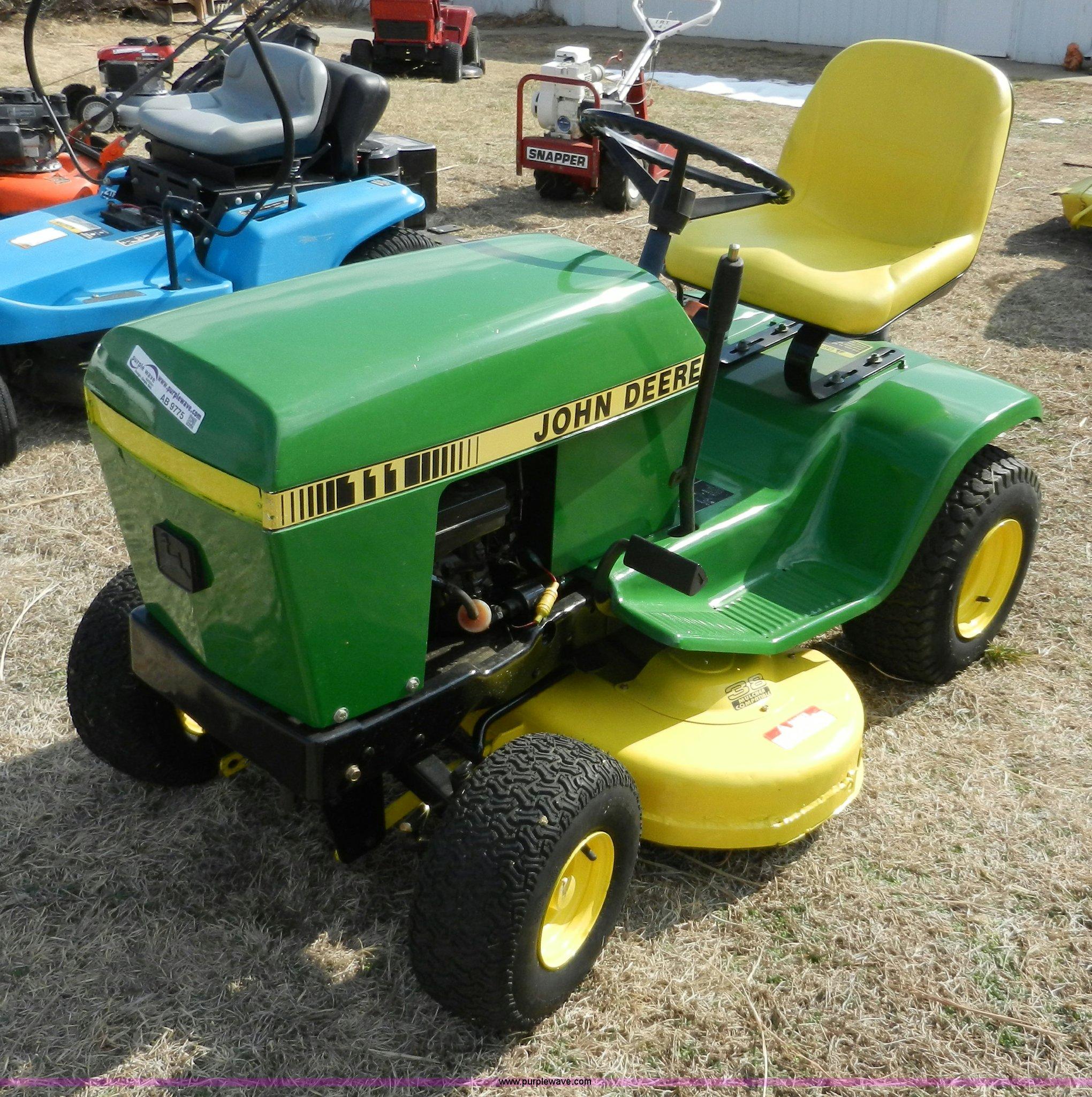 John Deere 111 Lawn Tractor Service Manual Riding Mower Wiring Diagram Item Ab9775 Sold March 6 Mi Rh Purplewave Com Information