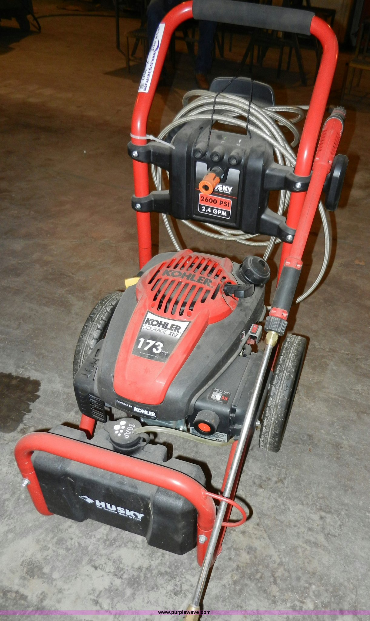 Husky Power Washer In Parsons Ks Item X9047 Sold Purple Wave