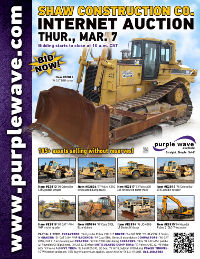 View March 7 George J. Shaw Construction Co. Auction flyer