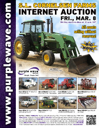 View March 8 S. L. Cornelsen Farms Partnership Dispersal Auction flyer