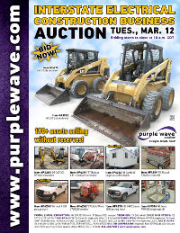 View March 12 Interstate Electrical Construction Business Liquidation Auction flyer