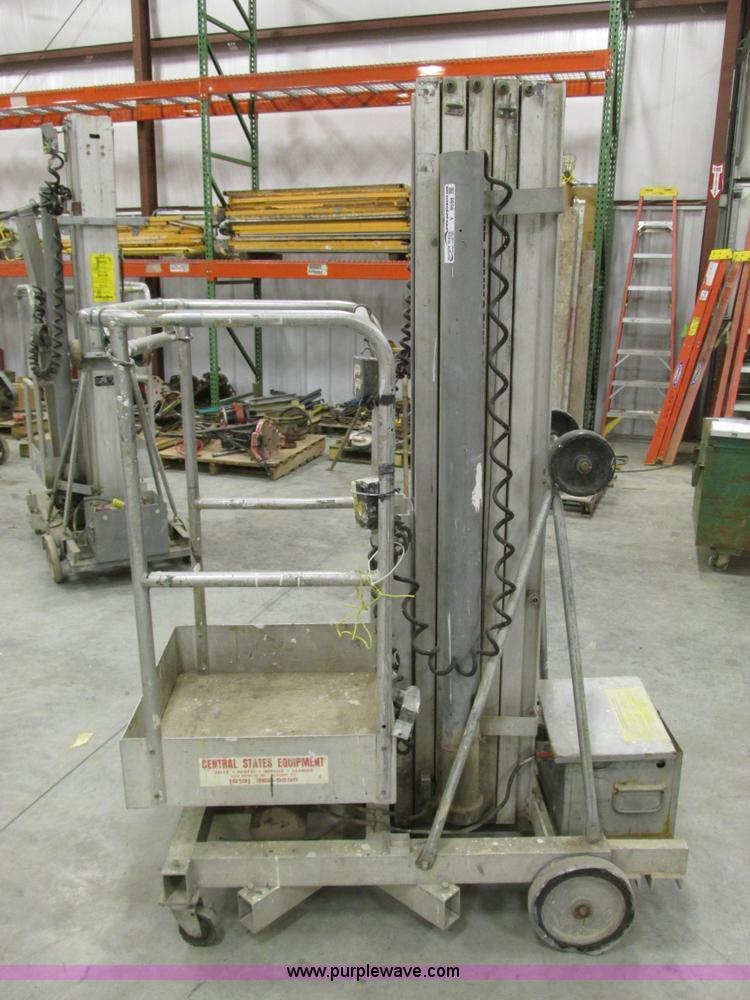 Genie PLC-24DC single man lift | Item Y9598 | SOLD! March 1