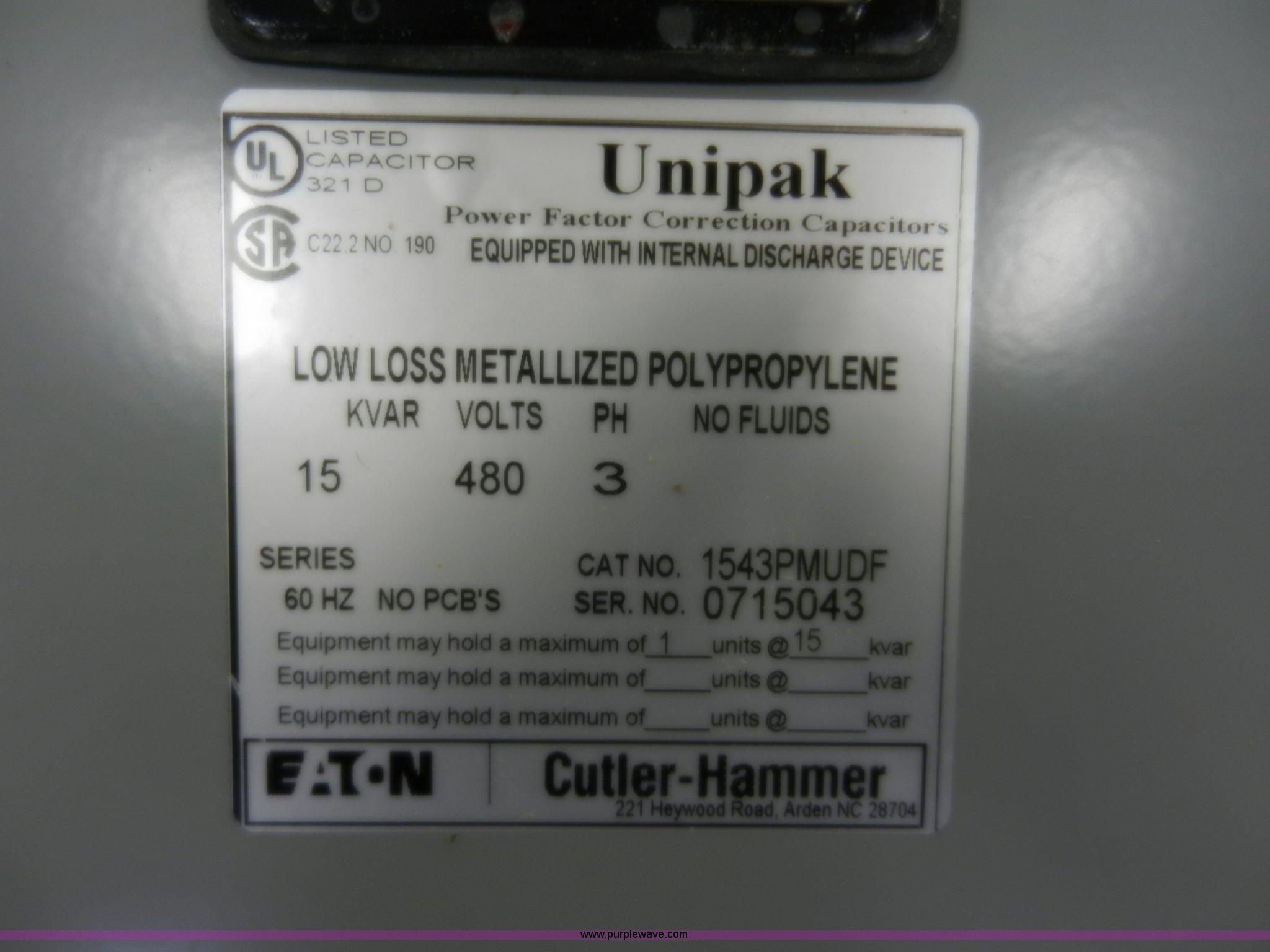 8 Unused Power Factor Capacitors Item X9784 Sold Mar Full Size In New Window