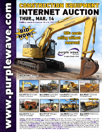 View March 14 Construction Equipment Auction flyer
