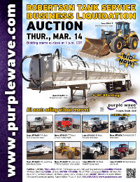 View March 14 Robertson Tank Service Business Liquidation Auction flyer