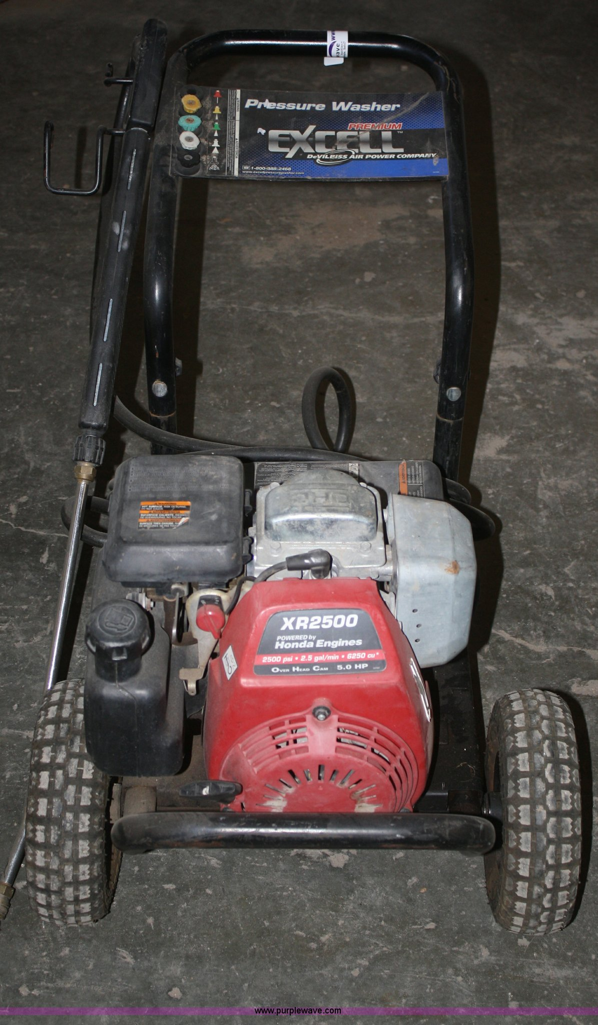 excell pressure washer item p9961 sold wednesday march