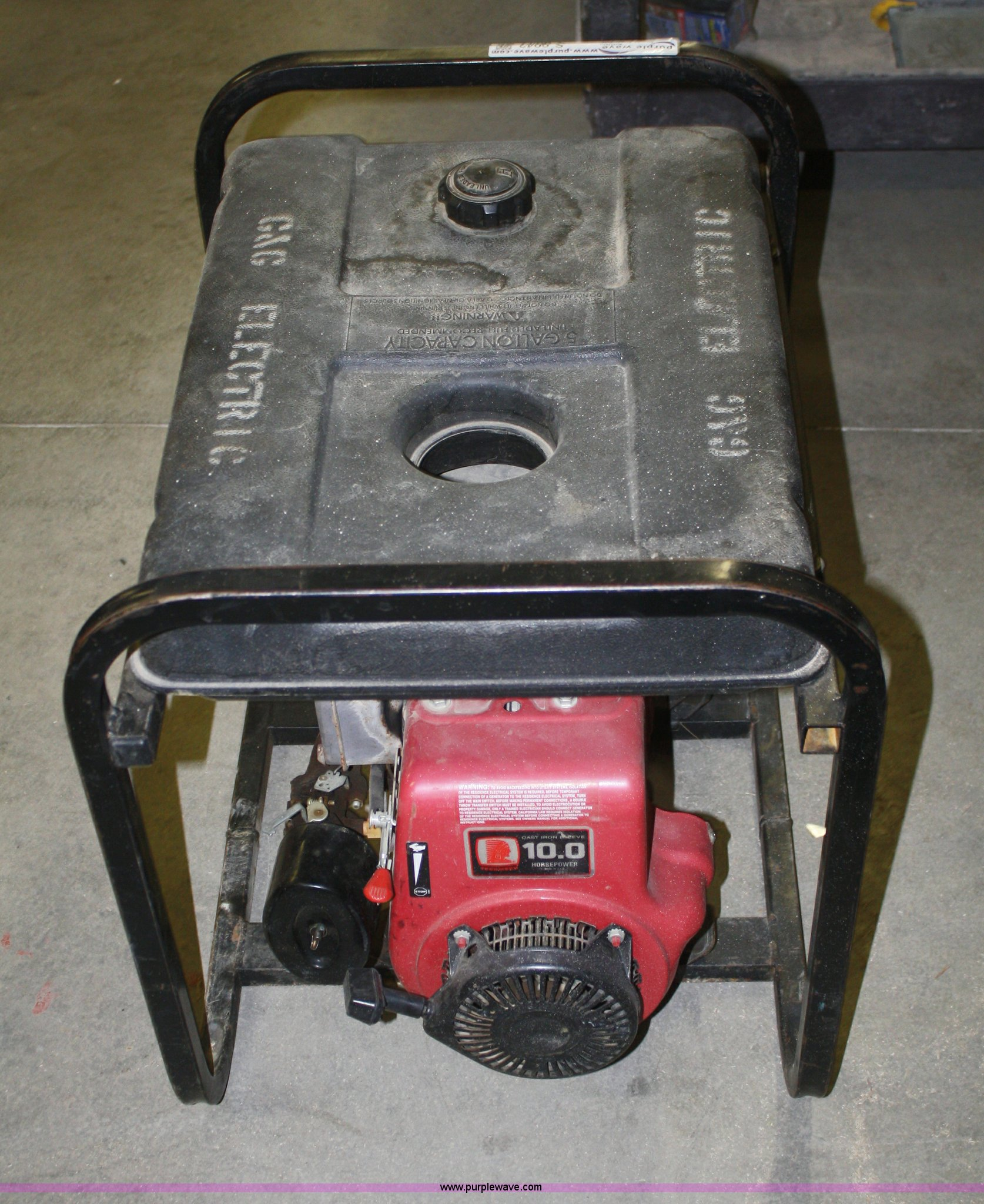 PowerMate 5 000 watt generator Item S9943