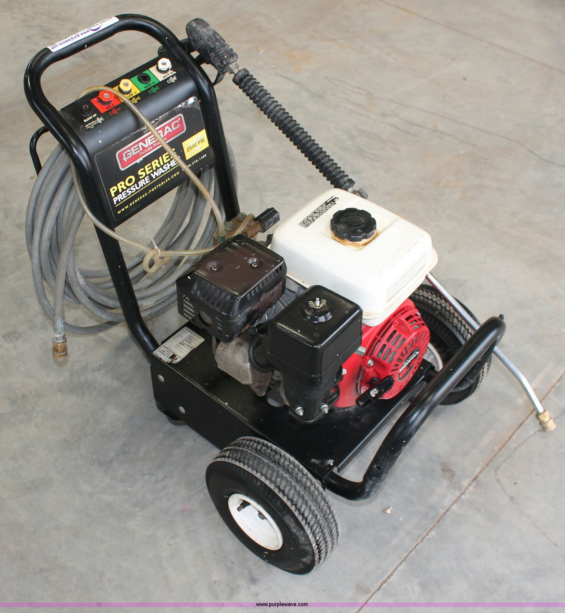 Generac Pro series pressure washer | Item V9046 | SOLD! Wedn