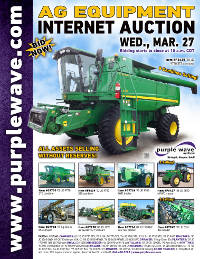 View March 27 Ag Equipment Auction flyer