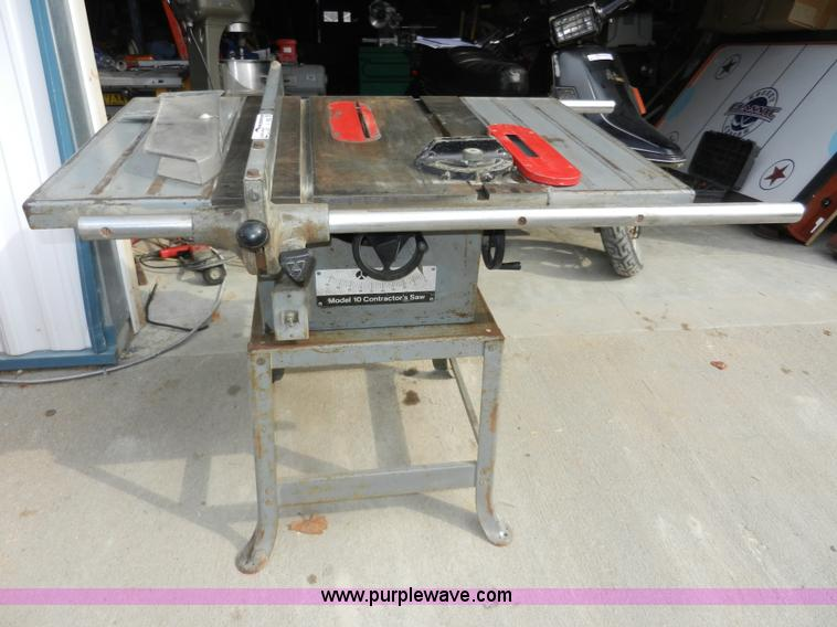 Rockwell Contractors Table Saw Item X9032 Sold Wednesda