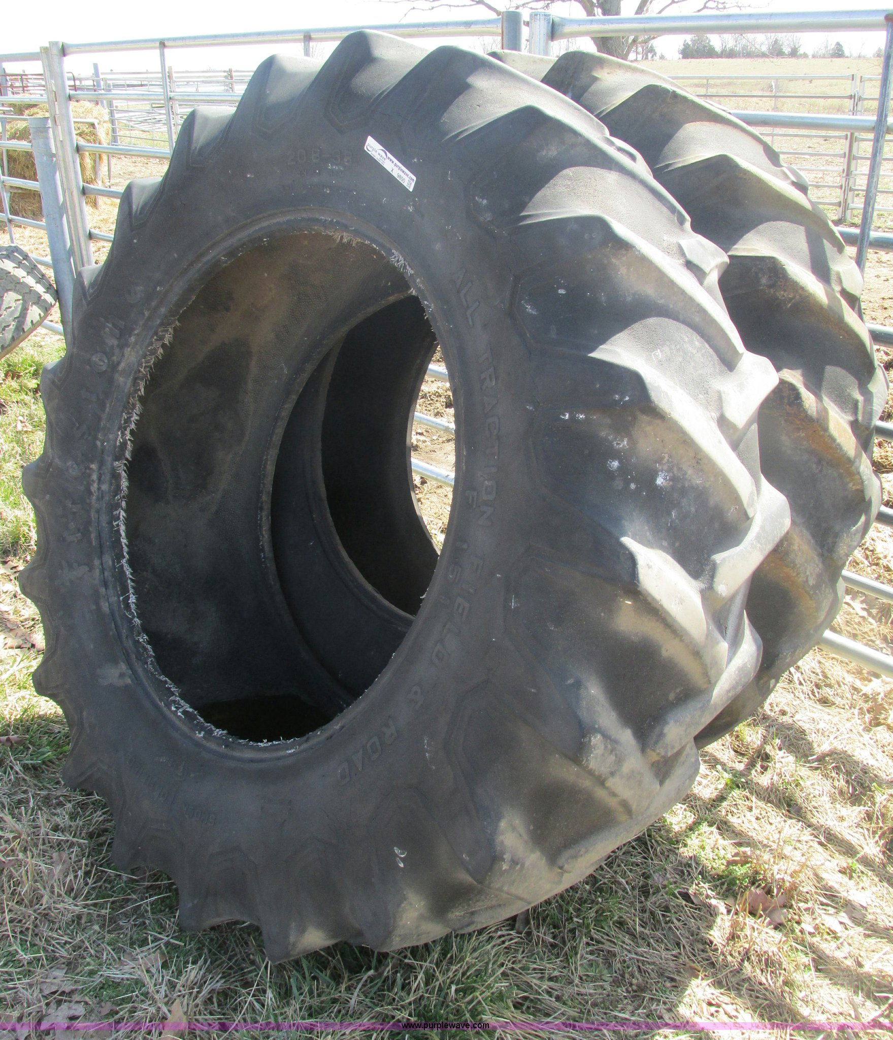 Used Tractor Tires For Sale >> 2 Firestone 151 20 8 38 Tractor Tires Item X9800 Sold